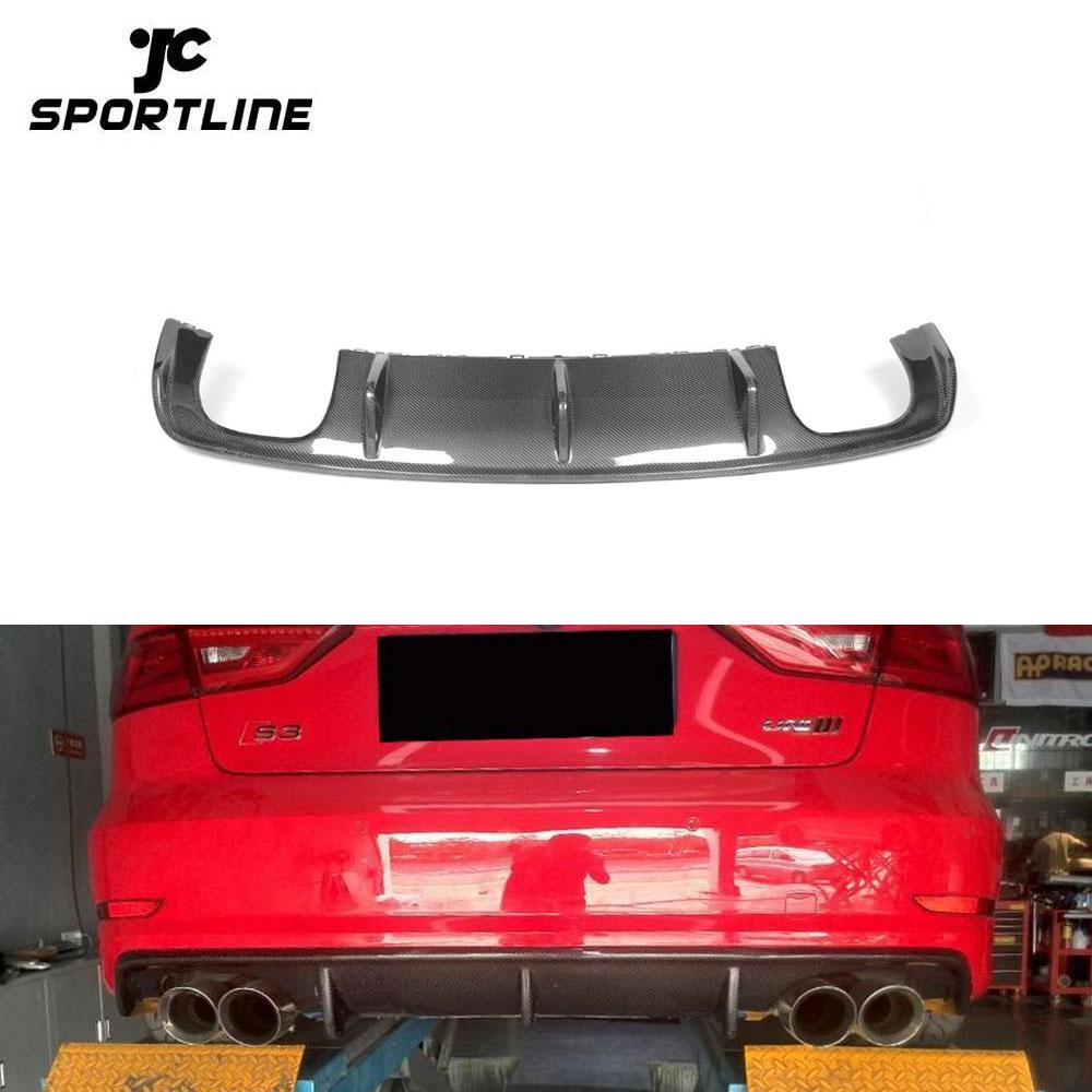 Fit:W205 JCSPORTLINE Carbon Fiber Tail Trunk Lip Spoiler for Mercedes Benz W205 Sedan 4-Door 15-16