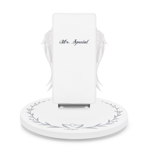 trend 2020 chargers mobile phone angel wings kc certificate wireless charger