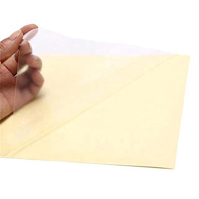 Personalizado de vinilo transparente etiqueta engomada impermeable PET auto-adhesivo de papel