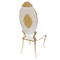 Modern design gold dinning chair stainless steel for events rental