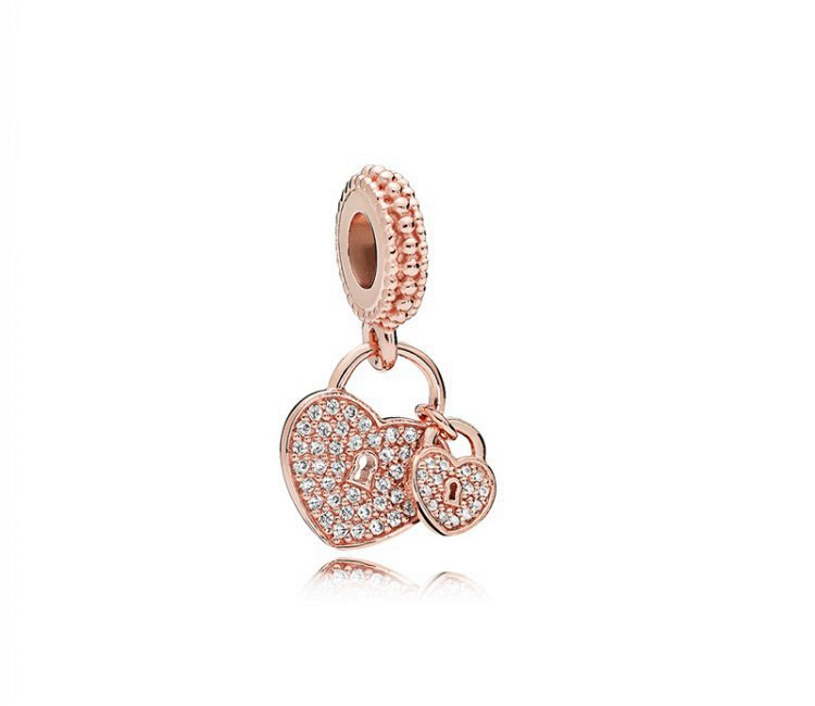 Women's sterling silver s925 beads diy bracelet silver charm rose gold series