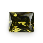 New Products Fancy CZ stones Wholesale 5x7mm Rectangle Diamond Cut Olive Cubic Zirconia For Jewelry Accessories