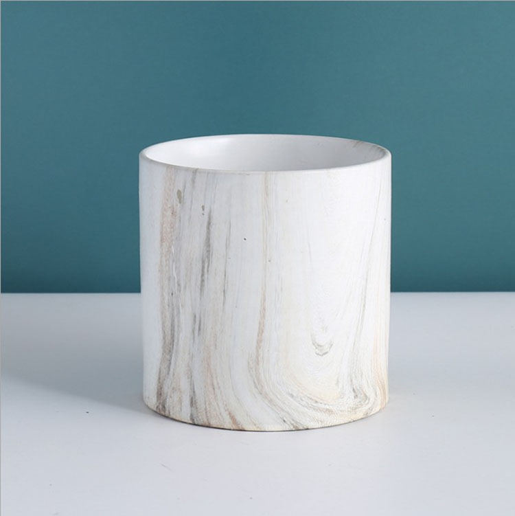 Tbrand Circular Ceramic Vessel with a Modern Simple Cylinder