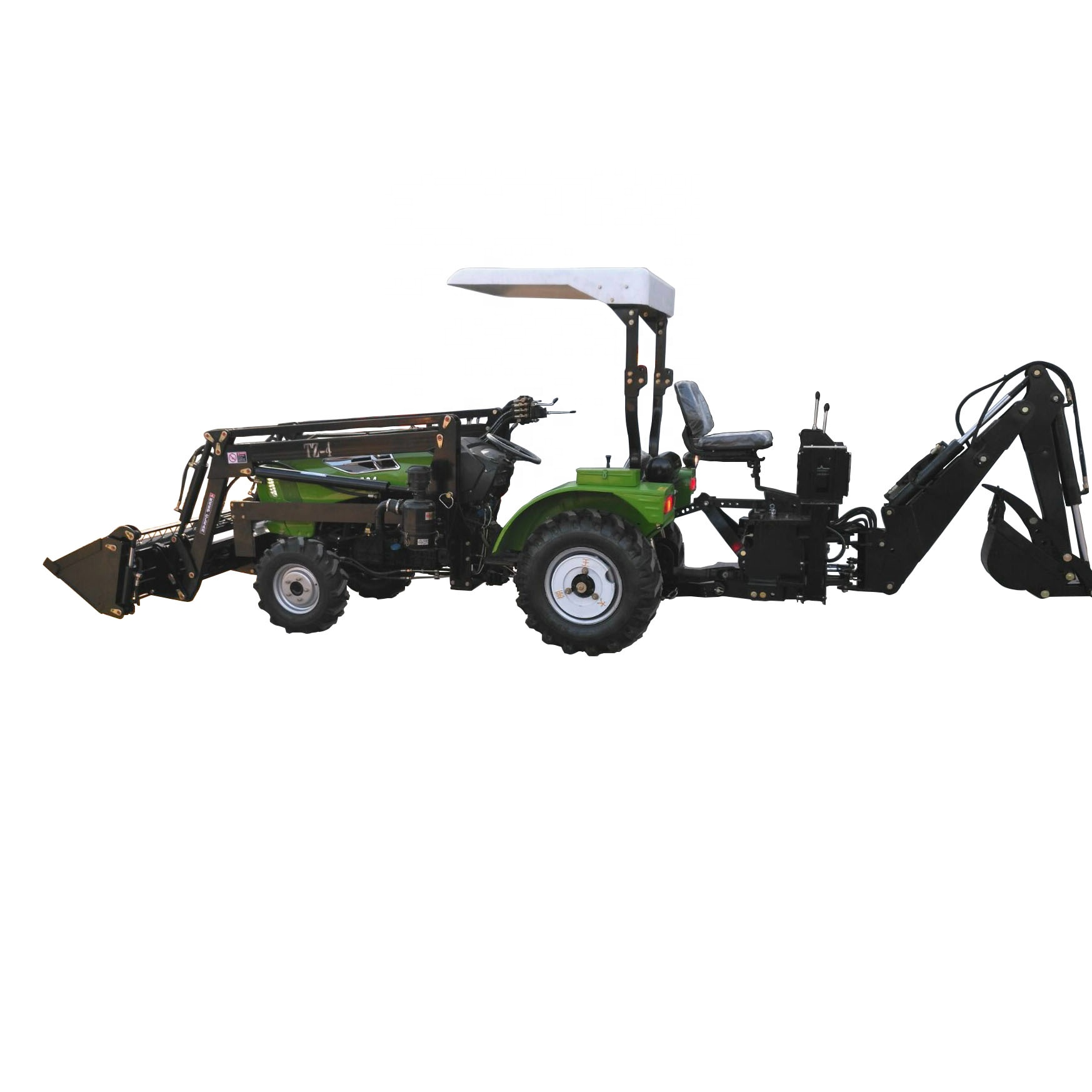 Agricultural Used Mini Tractor With Front End Loader And Backhoe From China Factory Supply