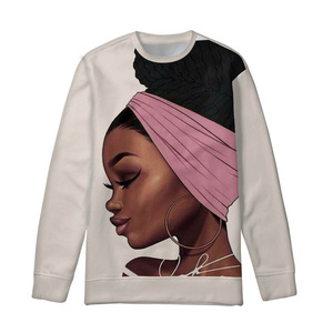 Custom Printed Ladies Long Sleeve Pullovers Women Black Queen African Girls Hoodies Teenagers Fashion Sweatshirt Hoodie 2019