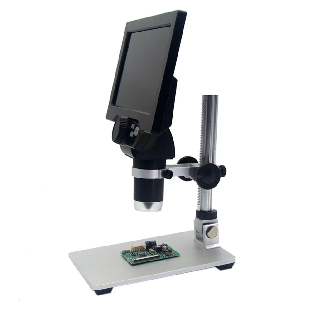 Microscope numérique 1-1200X Vidéo Électronique 12MP 7 pouces HD LCD de Réparation De Téléphone Loupe Support En Alliage US UK UA EU Microscopes