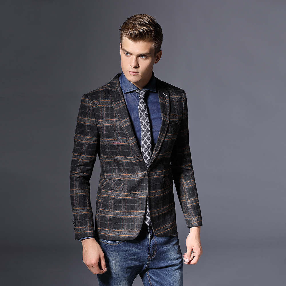 Hot Sale Customized Color Single Double Button Mens Slim Fit Casual Blazer Suit