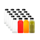 Wholesale 16 oz Empty BPA Free PET Plastic Beverage Juice Water Bottles with Cap