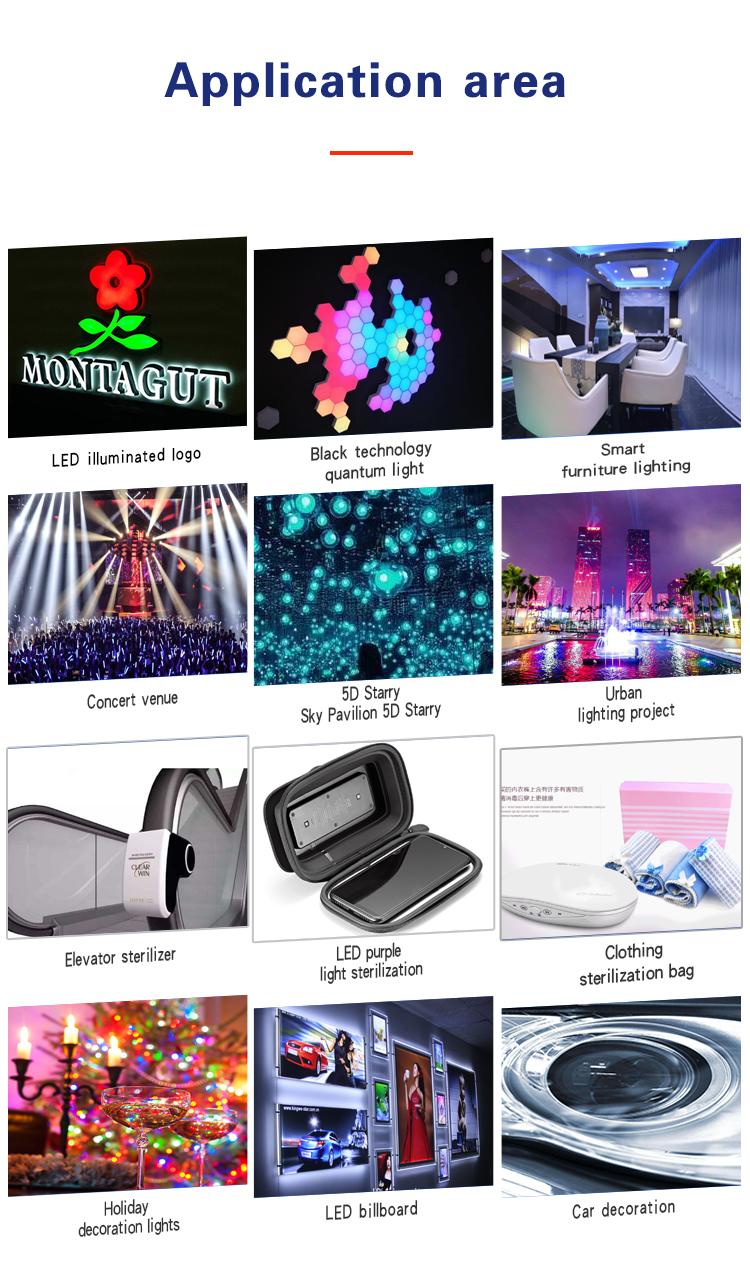 2020 Wenen LED dot matrix module F5 RGB LED DIP lamp beads