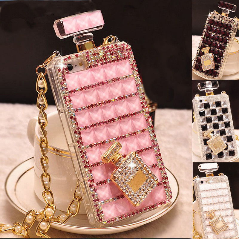 For <strong>Samsung</strong> S7 <strong>edge</strong> S8 S9 S10 S20 Plus Ultra Note 5 8 9 10 Plus Luxury Bling Diamond Rhinestone Perfume Bottle Phone <strong>Case</strong>