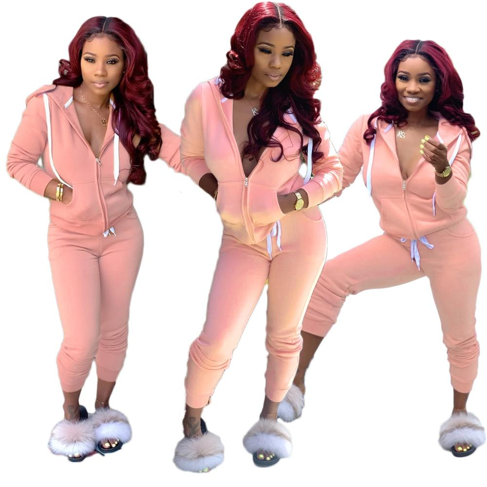 2020 autumn Fashion Women Two Piece Set Clothing Women 2 Piece Set Women Sweat Suits Joggers Pants set