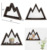 Wood Floating Mountain Wall Shelf Crystal Display Shelf Rustic Triangle Wall Art