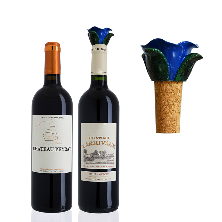 New product ideas 2020 cork flower bottle stopper