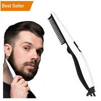 Hot Dual Voltage Electric Quick Styler V2 Korea Beard Sidebruns Mustache Styling Brush Hair Straightener Comb