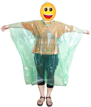 WHOLESALE LOT OF 12 Rain PONCHOS PLASTIC RAINCOAT