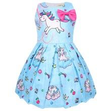 Детские летние вечерние платья с единорогом, детская одежда для девочек, платье для Хэллоуина, дня рождения, рождественское платье, 8617(Китай)