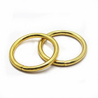 High Quality Metal Welded Round O Ring Metal Open Welded O Ring for Bag Accessories