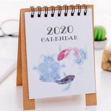 Новинка 2020, ручной рисовальный мини-Настольный бумажный календарь с изображением фламинго, двойной ежедневный планировщик стола, органайз...(Китай)