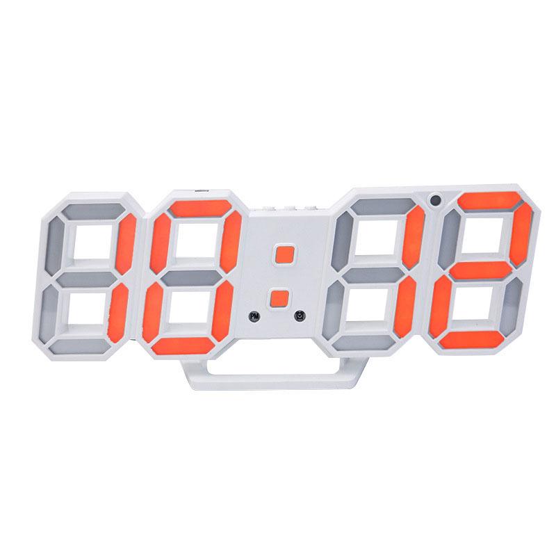 Della corea di Vendita Calda di Disegno Moderno 3D Digitale Orologio Da Parete A Led Grande Creativo Vintage Orologio Della Decorazione Della Casa Decorazione Scrivania Timer di Allarme orologio