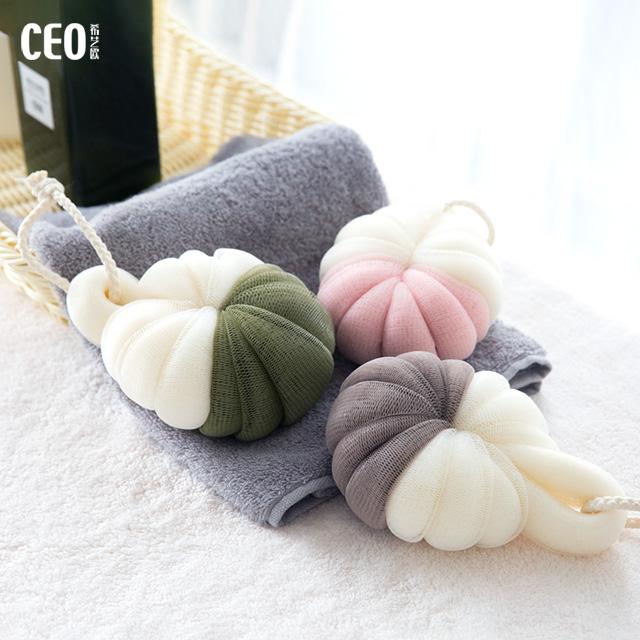 Wholesale colorful shower water drop shaped mesh loofah bath sponge