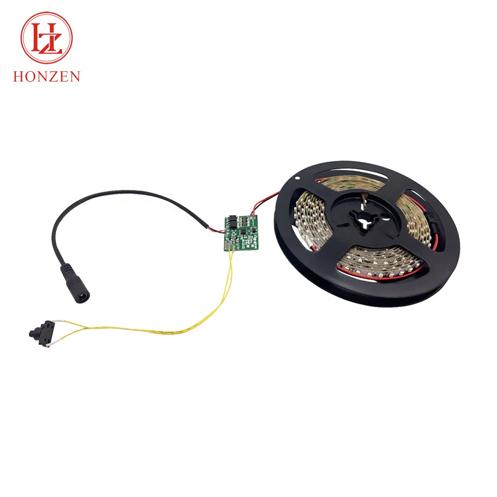 Non waterproof DC 12v motion sensor 3528 smd led flexible strip light for pos display