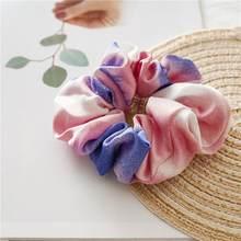 Женские атласные резинки для волос, яркие цветные резинки для волос, аксессуары для волос с хвостиком, 2019(Китай)