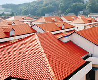 Bamboo roof tiles/construction materials building/spanish red color roofing