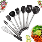 Eco Friendly 10pcs Colorful Complete 100% High Quality Non Stick Best Selling Silicone Kitchen Cooking Utensils Set Accessories