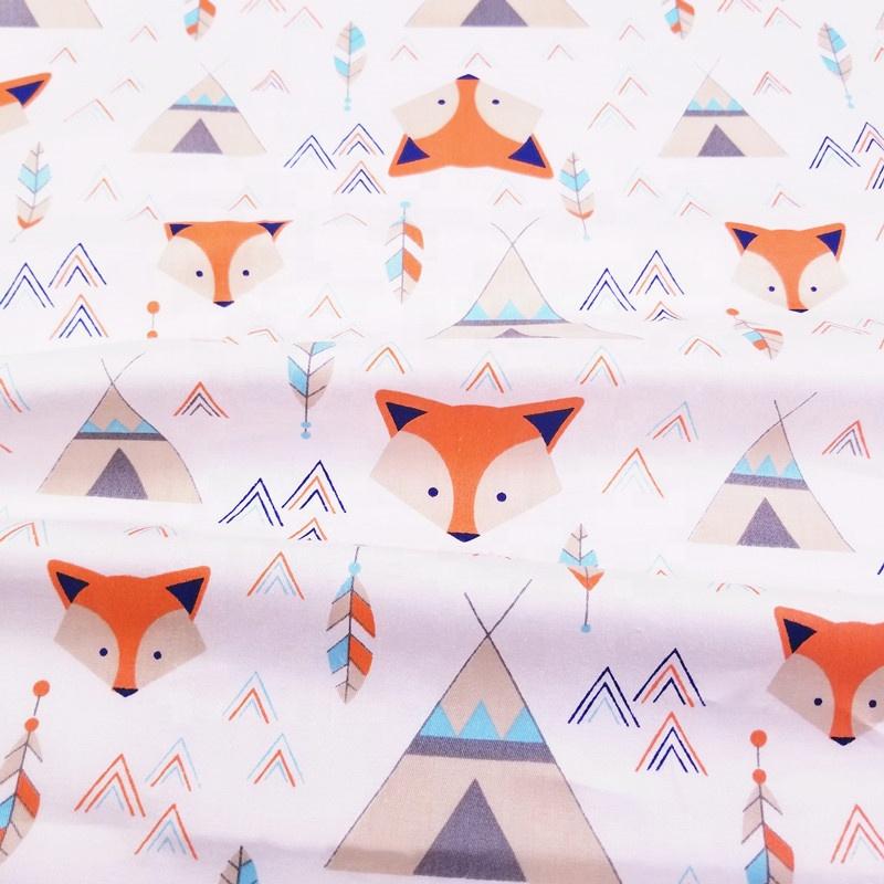 Quality cotton cotton stretch twill fabric fox series