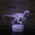 Basket-ball Dinosaure Licorne Cheval Table Enfants Horloge de Bureau Cadre Illusion 3d Lampe