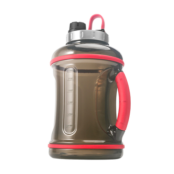 3.2L custom logosports motivational gallon water jug with straw
