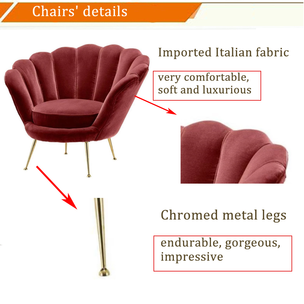 metal dining luxury accent recliner chaise lounge modern arm sofa chair home furniture living room leisure chair