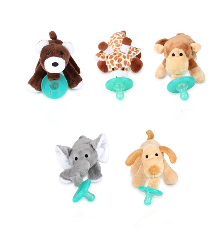 YDS Baby Detachable Stuffed Animal Soft Plush Toy without Pacifier  for Animal Replacement