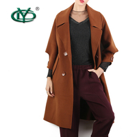 Fashionable ladys woman woolen jacket cashmere coat factory made