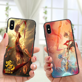 Tempered Glass Phone Case For Iphone 6 6S 7 7P 8 8P X Xs Xr Xs Max Hot Movie 3D Printing Phone Case Phone Cover