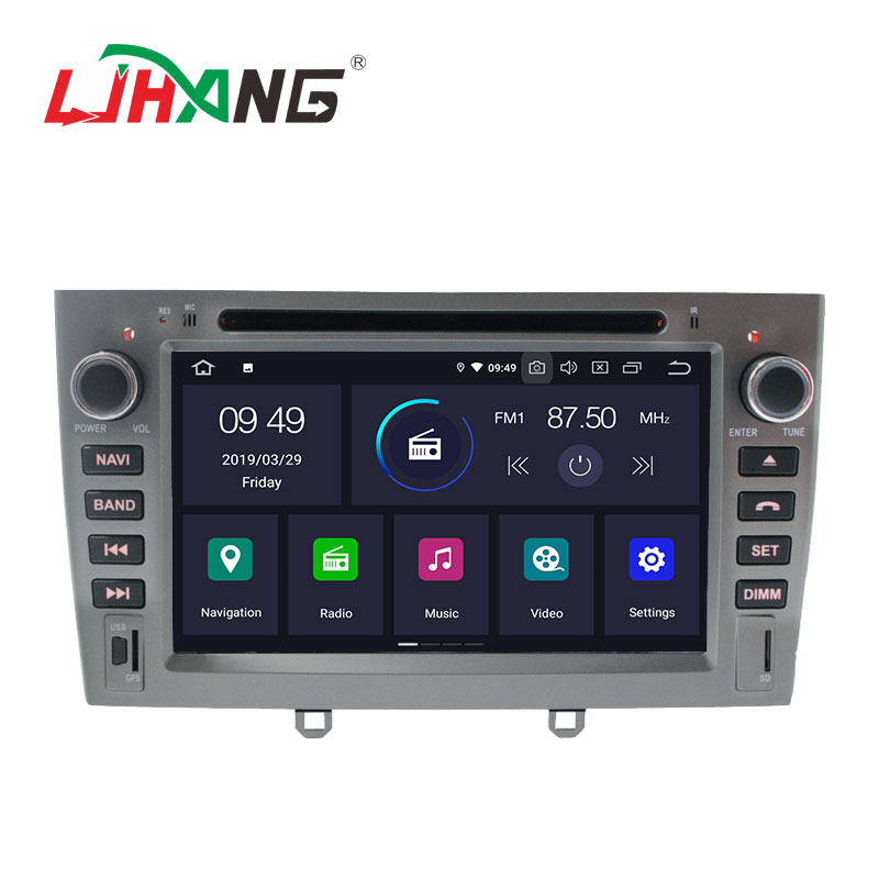 Chinese android 9.0 2+16g car radio audio system multimedia cd dvd player for peugeot 408 with rear camera