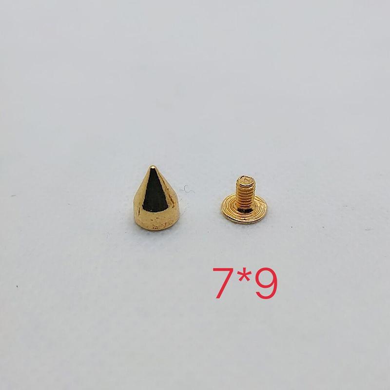 Studs Rivet Bullet Spike Cone Screw Leather Craft DIY 7X9mm