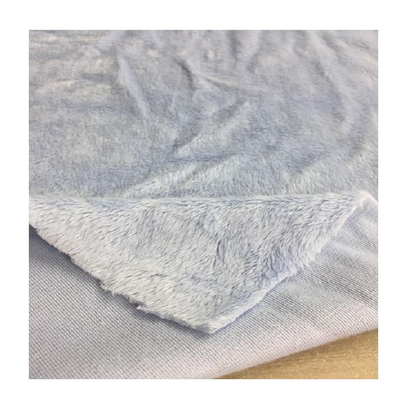 100 polyester tricot knitting short hair soft toy mink velboa plush fabric