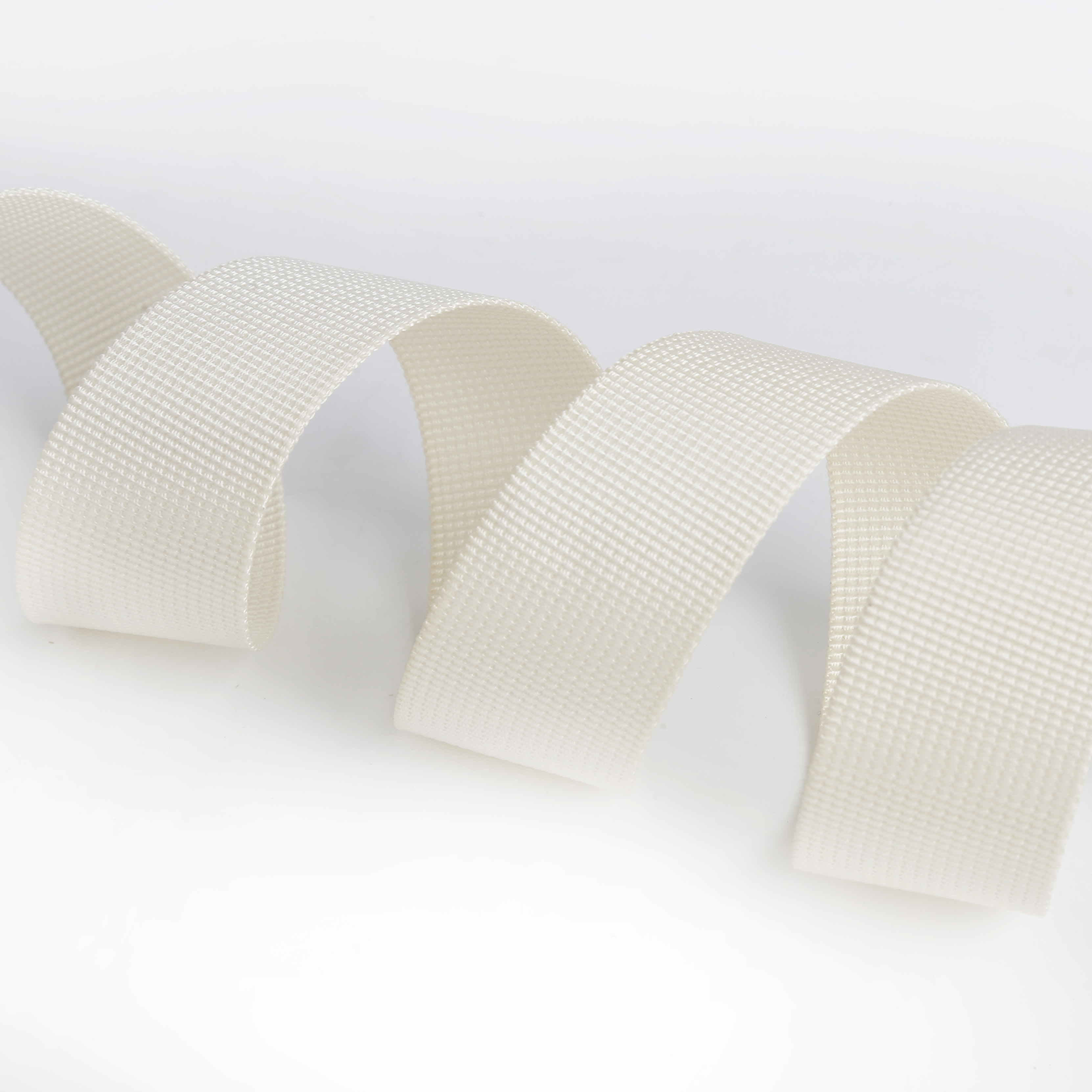 Free samples High - Strength White Woven Ribbon Customized Standard  Flat Nylon Webbing Strap  For Sofa