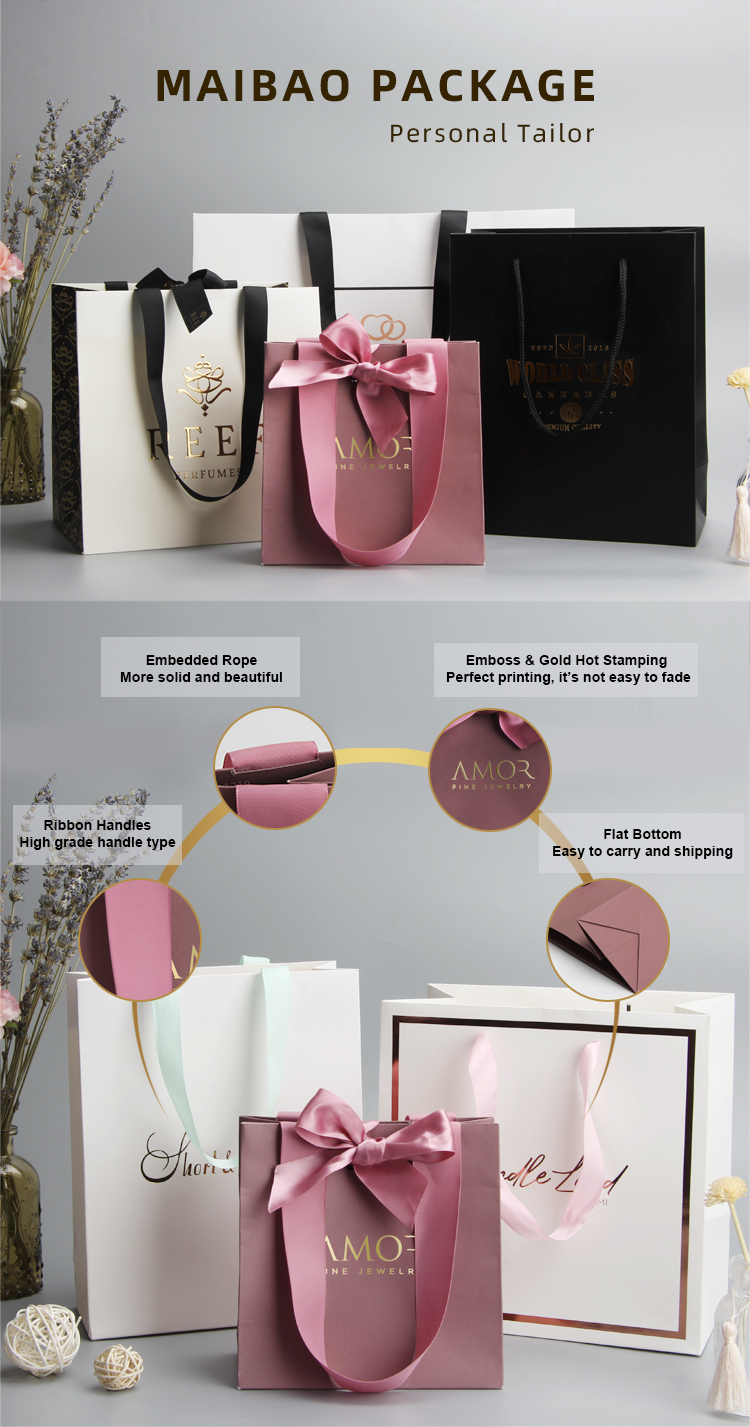 Modern luxury black and white gloss gold glitter stripes gift carrier paper bags for return gifts
