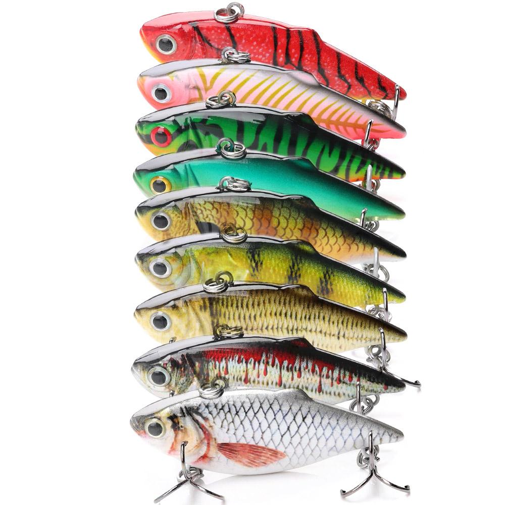 VATATA Vibration Bait Fishing Lure Bass Vib with Metal Vib Fishing Lure Spoon And Jig Head