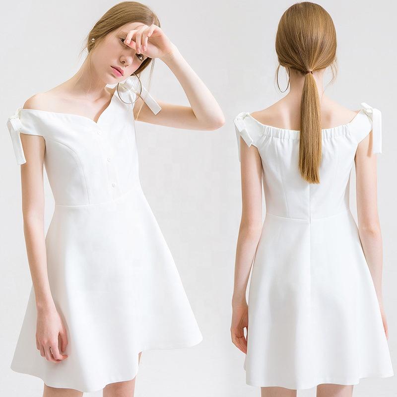 Venta Al Por Mayor Vestidos Blancos Sencillos Compre Online
