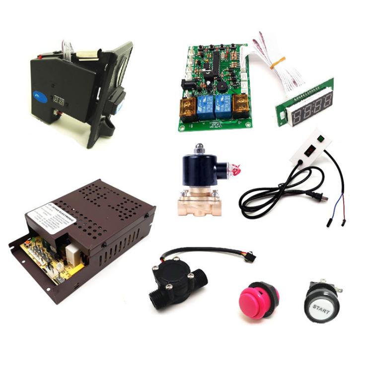 Kit de tablero de Control de temporizador operado por monedas, ensamblaje de tablero de temporizador de monedas, botón pulsador