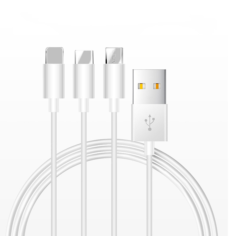 China fabricante al por mayor para el iPhone/Android/tipo-C USB de carga de 2A cable de datos