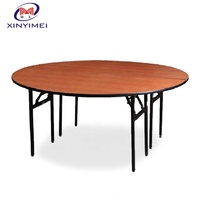 Folding Round Wooden Banquet Table