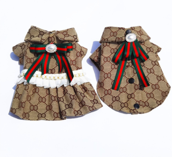 XS 5XL 3Takins Summer and Autumn Newest OO Font Luxury Design Pet Skirt, Super Fashion and Comfortable Rich Girl Dog Clothes