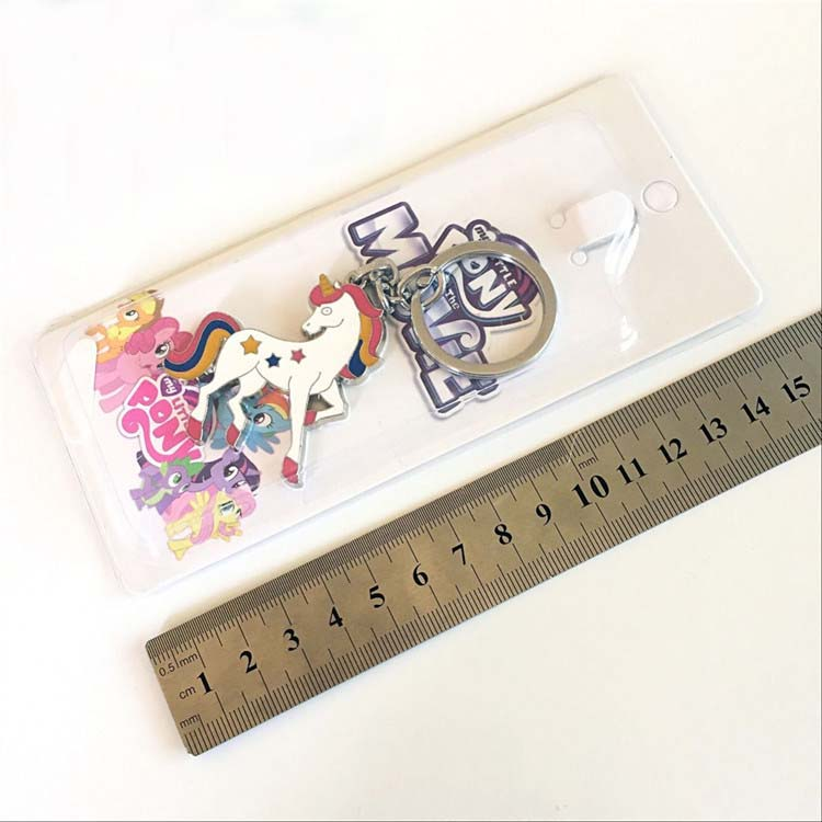 hot style metal  cute custom logo enamel unicorn metal  keychain for wholesale