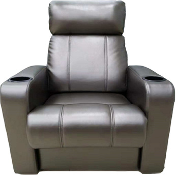 USIT SEATING UV-868A lounge recliner leather sofa with cupholder