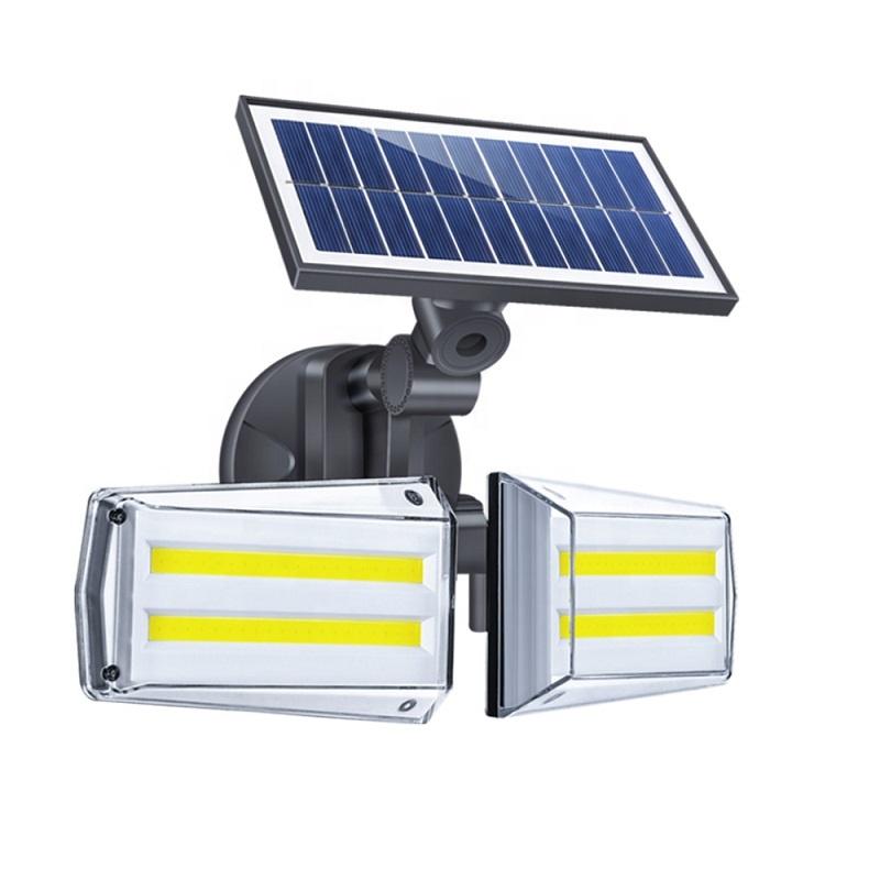 新スタイル回転 COB ライトモーションセンサーソーラーガーデンウォールライト