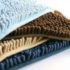 Solid Chenille Water absorption Shaggy Rug Latex back Non-slip Toilet Floor bath Mats